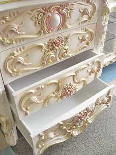 ~Cindi, we NEED to do this to your furniture you have in my spare bedroom!  I WANT!!!  And I want to add it to my bedroom done in pinks and shabby chic with the walls like how you did Nate's but in pinks!!!!!!!!!!!!!!!  Pweeze????