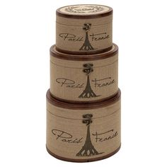 You should see this 3 Piece Paris France Burlap Trunk Set in Brown on Daily Sales!