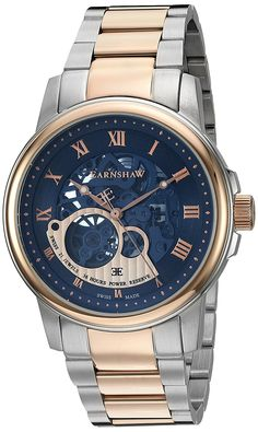 2728920c608 Amazon.com  Thomas Earnshaw Men s  Beagle  Swiss Automatic Stainless Steel  Dress Watch