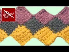 Tunisian Crochet (Rectangle Shaped) Entrelac Throw (Rectangle because she makes a row of blocks and works additional rows upward. Make your first row as long as you want your project to be. Square and slightly rectangle projects start out with one or two center squares and additional rows form around the center squares... I have pinned examples of all methods... Deb)