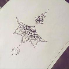Ewigkeits Tattoo, Women Sternum Tattoo, Sternum Tattoo Design, Mandala Sternum Tattoo, Tattoo Designs, Underboob Tattoo, Tattoo Women, Small Chest Tattoos, Chest Tattoos For Women