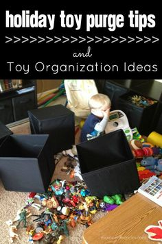 Great toy purge tips and creative toy organization ideas!
