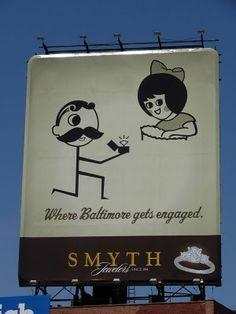 One of my favorite billboards.  Natty Boh loves the Utz Chips girl.  i miss marylandddd.