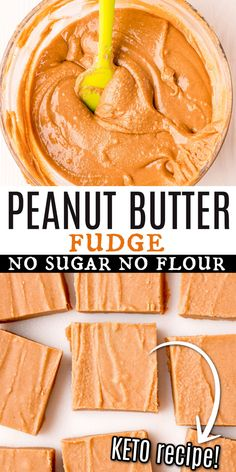 Fudge without sugar? It's not only possible--it's unbelievably delicious! Satisfy your sweet tooth with Sugar Free Peanut Butter Fudge. This easy fudge is rich and creamy, without the sugar crash! Sugar Free Fudge, Sugar Free Peanut Butter, Sugar Free Sweets, Chunky Peanut Butter, Low Carb Peanut Butter, Low Carb Sweets, Peanut Butter Fudge, Low Carb Desserts, Fun Desserts