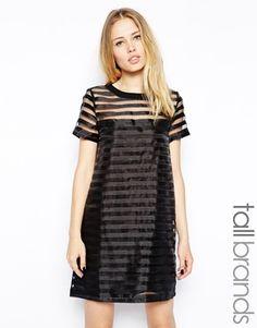 Girls On Film Tall Organza Stripe Tunic Dress