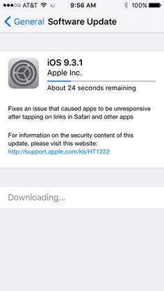 Apple released iOS 9.3.1. #iphonecoversonline