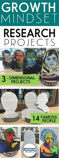 During this project, students will first learn about growth mindset by reading an informational article about Carol Dweck's work. Then, they'll select a famous person in history with a growth mindset. They'll choose from 14 famous leaders and pioneers in their fields for the basis of their research. Students will research their famous person as they respond to targeted research questions. While researching, they'll be on the lookout for ways that the famous person had a growth mindset. Next…