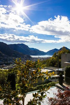 View of Lugano, Switzerland Lugano, Wonderful Places, Beautiful Places, Canton Ticino, Switzerland Bern, Villa, Central Europe, The Great Outdoors, Places To See