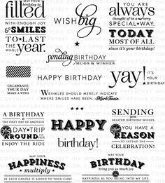 Stylish Sentiments: Birthday Stamp Set: Papertreyink