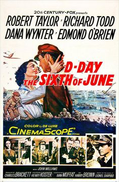 D-Day the Sixth of June Stars: Robert Taylor, Richard Todd, Dana Wynter, Edmond O'Brien ~ Director: Henry Koster Old Movies, Vintage Movies, Richard Todd, Harry Brown, Movie Posters For Sale, Internet Movies, Barbara Stanwyck, Thing 1, Poster Ads