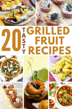 Fresh fruit is a sweet and savory treat all on its own, not too mention a healthy way to keep those sugar cravings away. Grillable fruit can come in all shapes and sizes; including pineapple, apples, avocado, peaches, plums, watermelon, and even figs, just to name a few. So, if you're looking for some inspirational ways to get your daily fruit intake up, check out this post! #grilledfruit #fruitrecipes #summer #freshfruit Fruit Snacks, Fruit Recipes, Healthy Snacks, Outdoor Cooking Recipes, Grilling Recipes, Side Dishes Easy, Side Dish Recipes, Delicious Fruit, Tasty