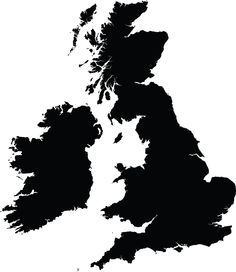 silhouette map of uk - Google Search