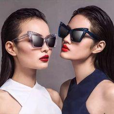 2017 Occident Cat Eye Sunglasses Female Women Brand Designer Sun Glasses for Women New 2016 Style Oculos Gradient Lunette R332