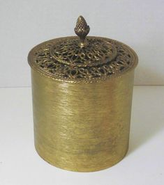 Vintage metal tissue box holder for vanity Handmade manufacture and engraving