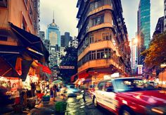 Wan Chai At Dusk by Nicolas Jacquet - Limited Edition Print | Luxury Photograph | Luxify