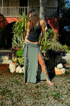 Hey, I found this really awesome Etsy listing at https://www.etsy.com/listing/179268446/maxi-long-skirt-slit-skirt-bohemian