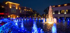 Pretty fountain at the Shops at Legacy in Plano, Texas. Always a crowd-pleaser.