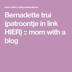 Bernadette trui (patroontje in link HIER) :: mom with a blog