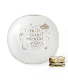 Twinkle Twinkle Ceramic Money Box, Mothercare, £15.