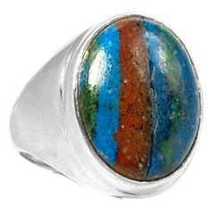 Rainbow Calsilica 925 Sterling Silver Ring Jewelry s.7 RBCR470