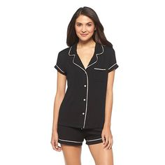 Women's Fluid Knit Top and Short Pajama Set - Gilligan & O'Malley® $19.99