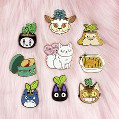 No Face Planter Hard Enamel Pin // Studio Ghibli Spirited Studio Ghibli, Mononoke, Cat Pin, Cool Pins, Pin And Patches, Hard Enamel Pin, Metal Pins, Stickers, Pin Badges