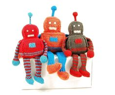 Robbie the Radiant Robot Knitting Pattern Pdf by dangercrafts