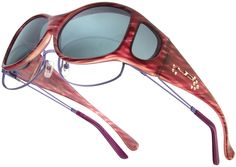 Glides Red Licorice with Crystals from Swarovski®  Fitovers by Jonathan Paul® are THE original fitover sunglass. With 44 hand-painted frame colors, 8 polarized polycarbonate lens colors, and 25 styles, JP offers 150+ fashionable options to choose from.