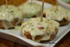 Champiñones rellenos de bacon y queso. | Cocina