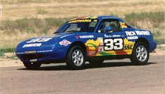 Car 102 - 25th race car - 1990 Mazda Miata - Pueblo, Colorado SCCA National 8-1-93 - The 4th of 6 victories of 1993 and the 3rd Southern Pacific Division title in a row.
