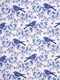 white bird fabric Michael Miller Birds On The Vine