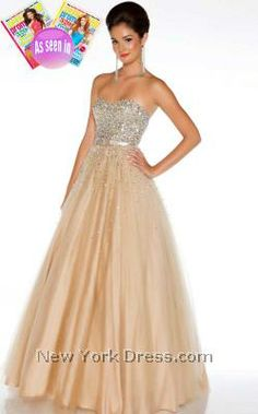 Ethereal Strapless Sparkles Dress by Mac Duggal Ballgowns 61184H