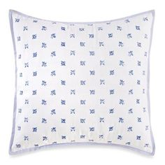 wedgwood china blue floral square throw pillow