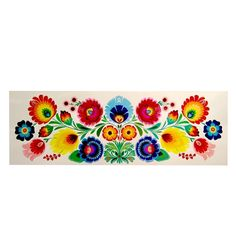 "Lowicz Kodra 23"" x 8"" (59cm x 20cm) - Floral Rectangle"