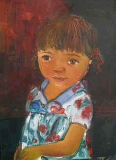 White Ceramics, Oil On Canvas, Paintings, Fine Art, Portrait, Children, Young Children, Boys, Paint