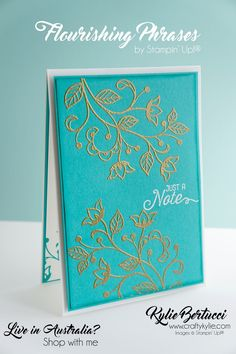 I am a Stampin' Up! Demonstrator in Victoria, Australia. You can contact me for all your cardmaking, scrapbooking and craft needs. I have a team all over Australia and would love you to join my team today!