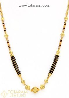 Gold Jewelry / Women's Jewelry / Gold Mangalsutra / Mangalsutra Chains With Pendants / Gold Mangalsutra Black Beads Chain / South Indian Bridal Jewelry / Beaded Necklace South Indian Bridal Jewellery, Wedding Jewelry, 24k Gold Jewelry, Gold Mangalsutra, Necklace Designs, Beaded Necklace, Gold Necklace, Women Jewelry