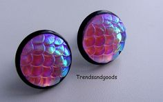 Fish Scale Mermaid Scale Dragon Scale Fake Plugs by Trendsandgoods
