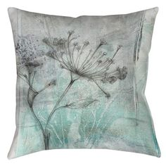Thumbprintz Ombre Wildflowers 1 Printed Throw Pillow & Reviews | Wayfair