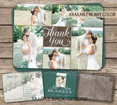 Beach Wedding Thank You Postcard - printable card Printable Cards, Printables, Wedding Thank You Postcards, Photo Thank You Cards, Wedding Announcements, Custom Cards, Feeling Happy, Rustic Wedding, Dream Wedding