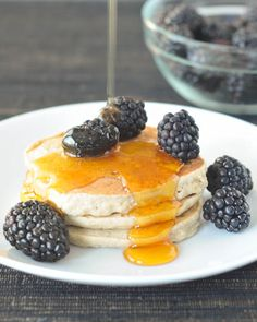buckwheat hemp banana pancakes - easy vegan gluten free recipes