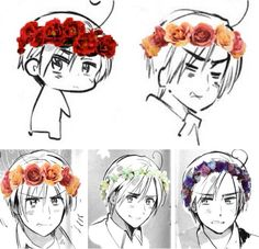 Everyone needs a flower crown Romano on their board