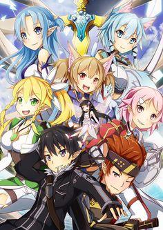 Artist: SylphineSnowphire | Sword Art Online | Kirito | |Klein | Leafa | Lizbeth | Pina | Silica | Sinon | Yui | Yuuki Asuna