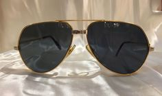 7e5b8b69de Incredible pair of vintage Cartier aviator sunglasses from the 80 s   vintagesunglasses  Cartier  aviator  sunglasses  afflik