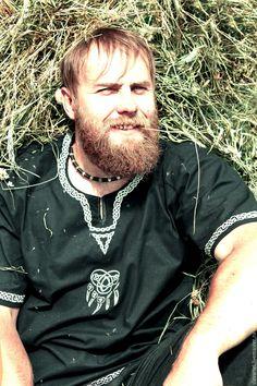 Купить Летняя рубаха ВелеЯръ - черный, велеяръ, черная летняя рубашка, русская летняя рубашка