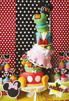 Disney Mickey and Friends Cake by And Everything Sweet @HWTM