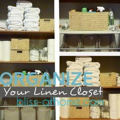 linencloset organization  bliss.