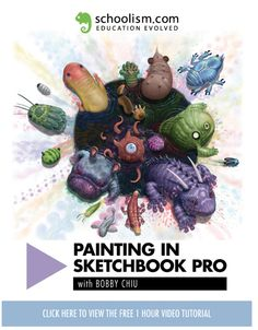 FREE 1 Hour Tutorial on Painting in Sketchbook Pro with Bobby Chiu on Schoolism.com