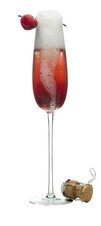 Bride of Frankenstein Halloween Cocktail    Ingredients:    4 oz VOGA Sparkling    1 oz Chambord Black Raspberry Liqueur    1 oz pineapple juice    Preparation:    Pour Chambord and juice into a Champagne flute. Top with VOGA Sparkling and garnish with a raspberry.