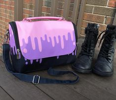 Creepy Cute Messenger Bag pastel grunge bag Kawaii Ghost gothic lolita school bag pastel goth laptop bag